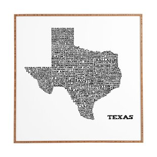 Vintage Texas Map Wayfair - Vintage texas map framed