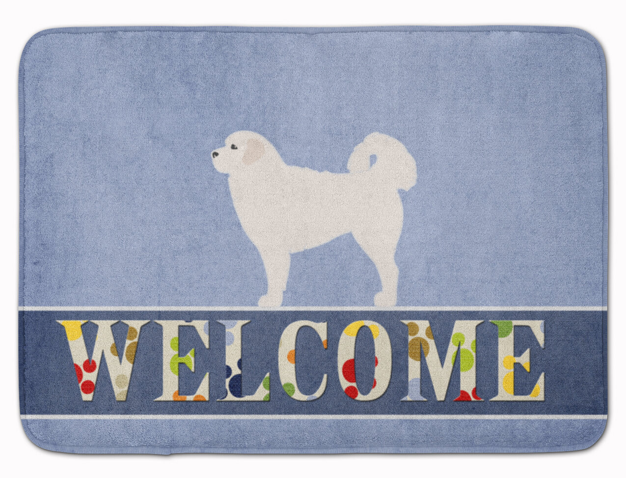 East Urban Home Polish Tatra Sheepdog Welcome Rectangle Microfiber Non Slip Bath Rug Wayfair