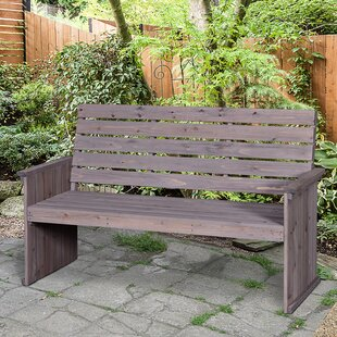 Willmar Wood Traditional Bench By Sol 72 Outdoor