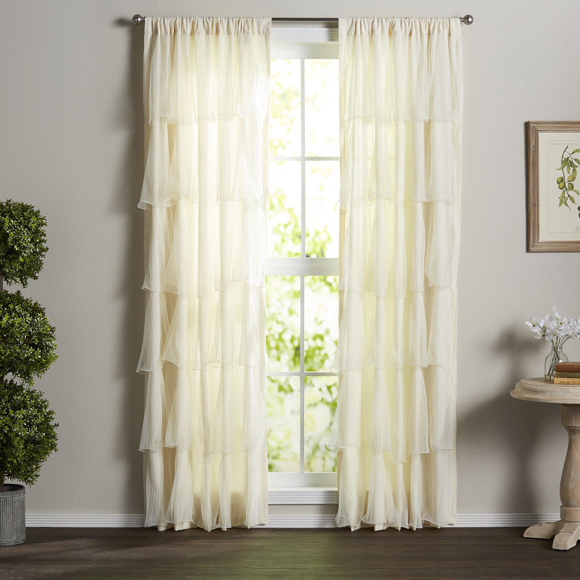 Ophelia Co Clarkson Solid Semi Sheer Rod Pocket Single Curtain Panel Reviews Wayfair