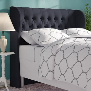 Bargain Twill Upholstered Wingback Headboard by Alcott Hill