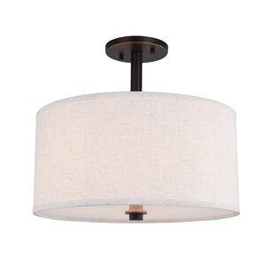 Corbridge 3-Light Semi Flush Mount by Ebern Designs