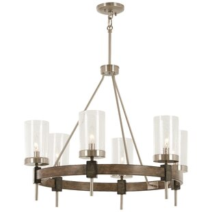 Lipton 6-Light Wagon Wheel Chandelier