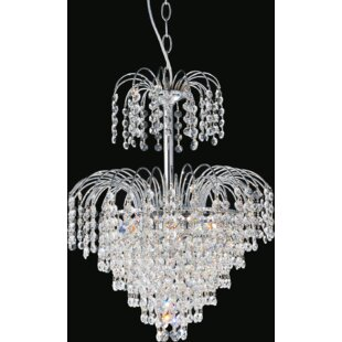 Palm Tree 8-Light Chandelier by CWI Lighting
