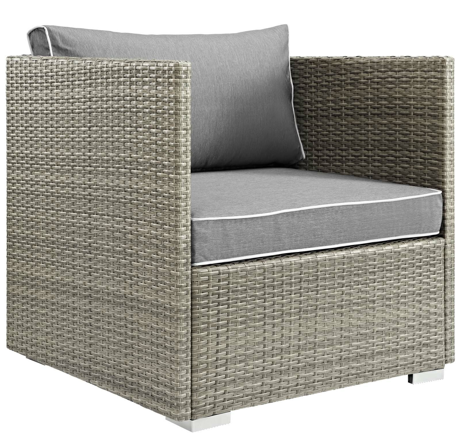 Ebern Designs Berberia Patio Dining Chair With Cushion Wayfair
