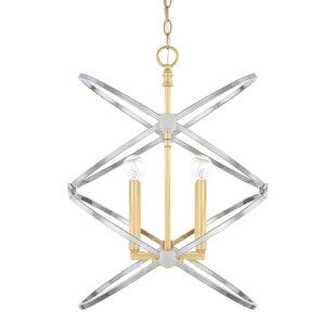 Garret 4-Light Geometric Chandelier by Latitude Run