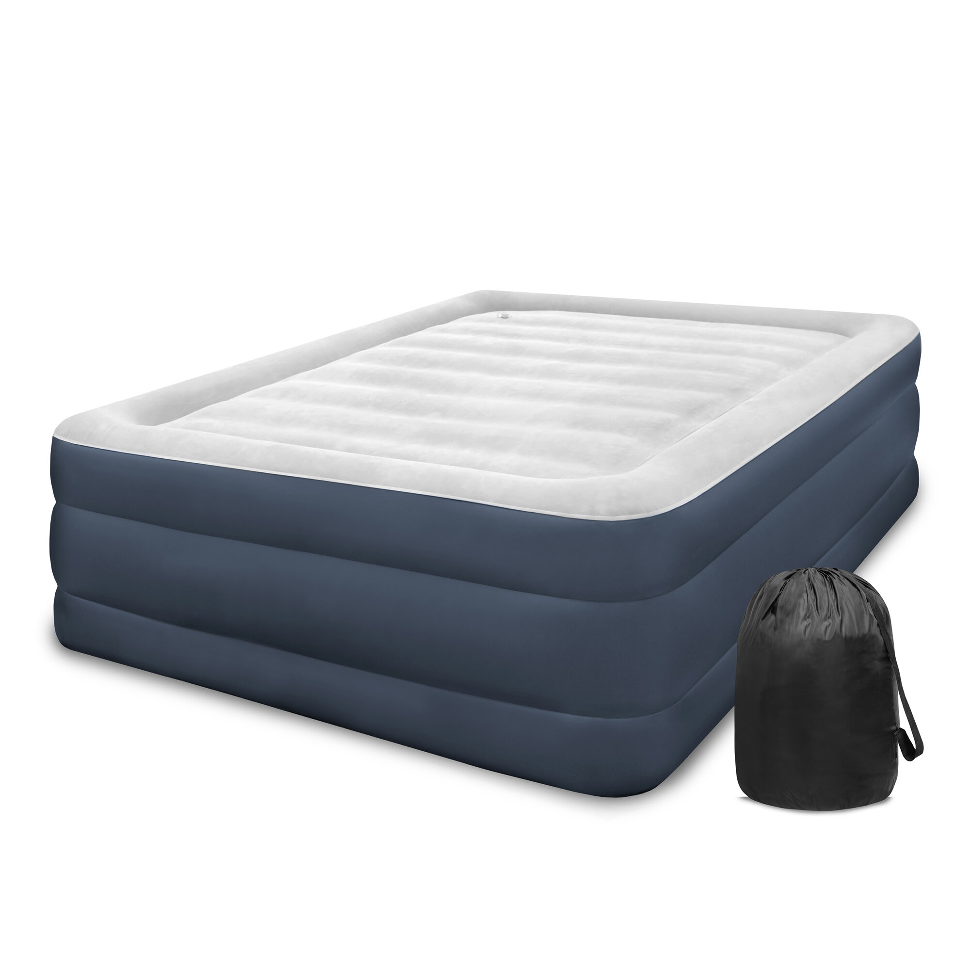 bed r pillowtop air mattress in wid hei with built queen pump aerobed