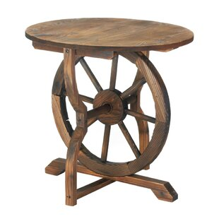 Wagon Wheel End Table by Zingz & Thingz