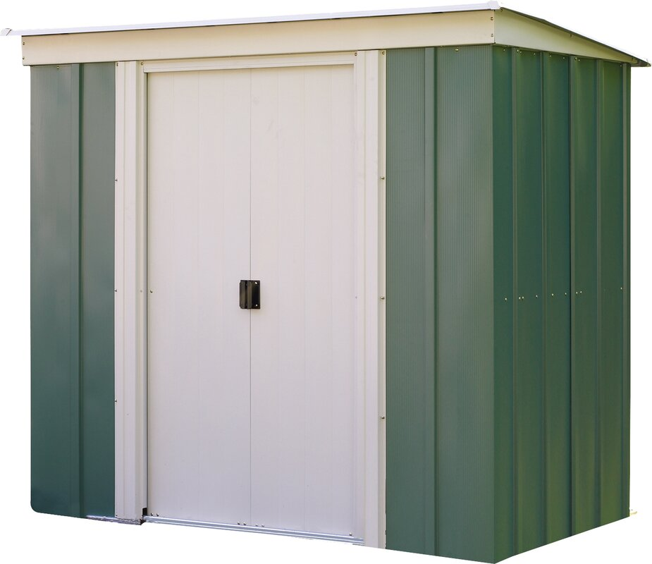 6 ft w x 4 ft d metal storage shed