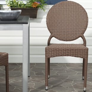 Valdez Stacking Patio Dining Chair (Set of 2) Safavieh