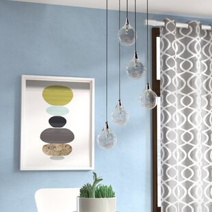 Wade Logan Chesterton 5-Light Glass Shade Cascade Pendant