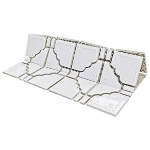 Moonlight Porcelain Mosaic Tile in Glossy White