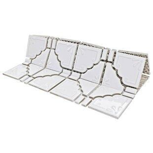 Moonlight Porcelain Mosaic Tile in Glossy White