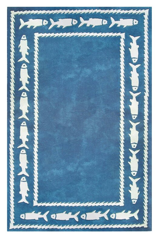 Fish Border Beach Rug