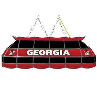Trademark Global University of Georgia Stained Glass 3-Light Pool Table Light