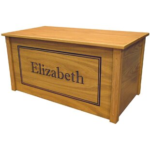 Netto Oak Toy Box With Shadow Bold Font