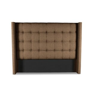 Darby Home Co Esters Winged Box Tufting Upholstered Wingback Headboard