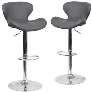 Guajardo Adjustable Height Swivel Bar Stool (Set of 2)