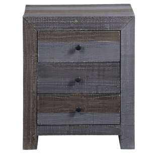 Millwood Pines Ozbourn 3 Drawer Nightstand