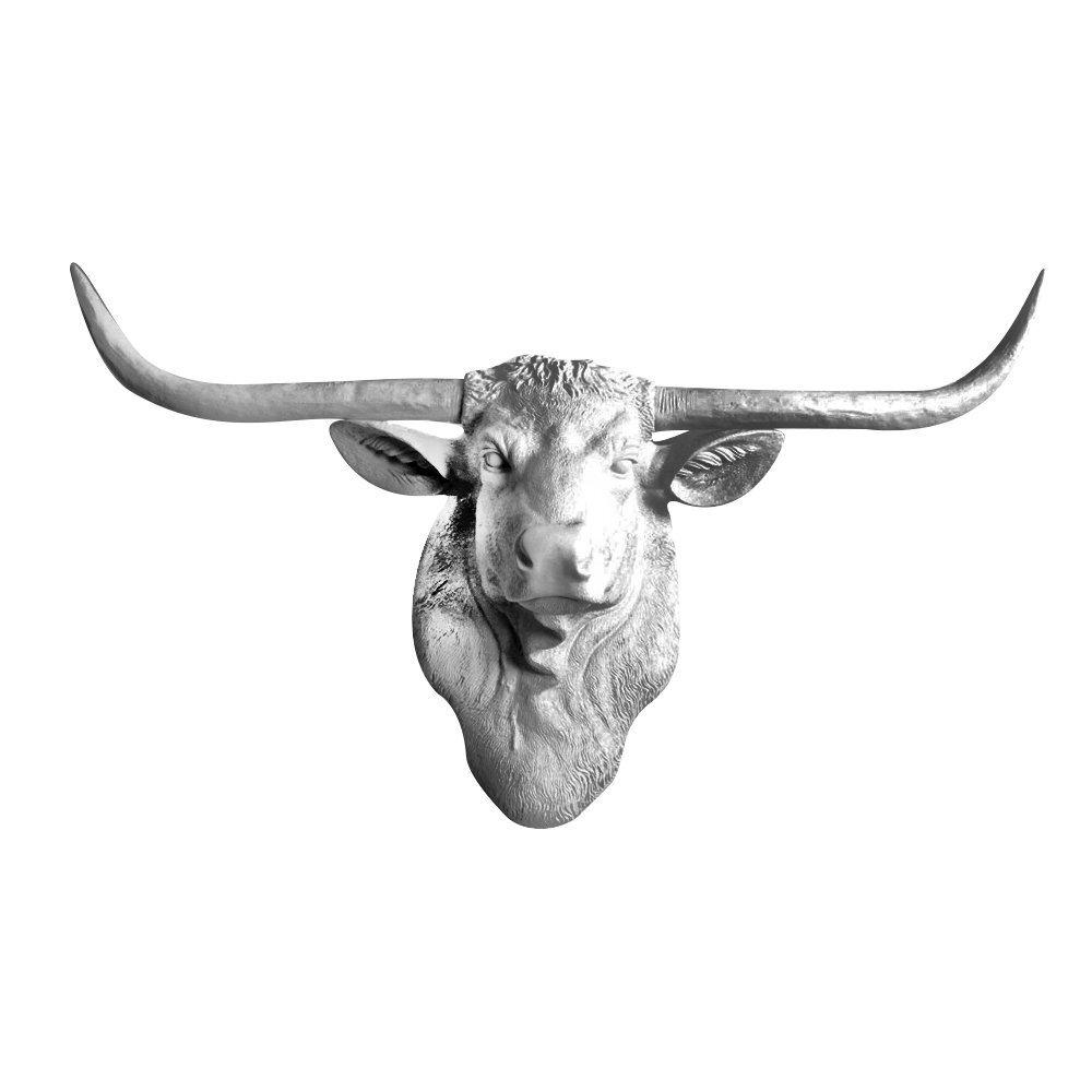 Loon Peak Faux Texas Longhorn Cow Head Wall Decor | Wayfair