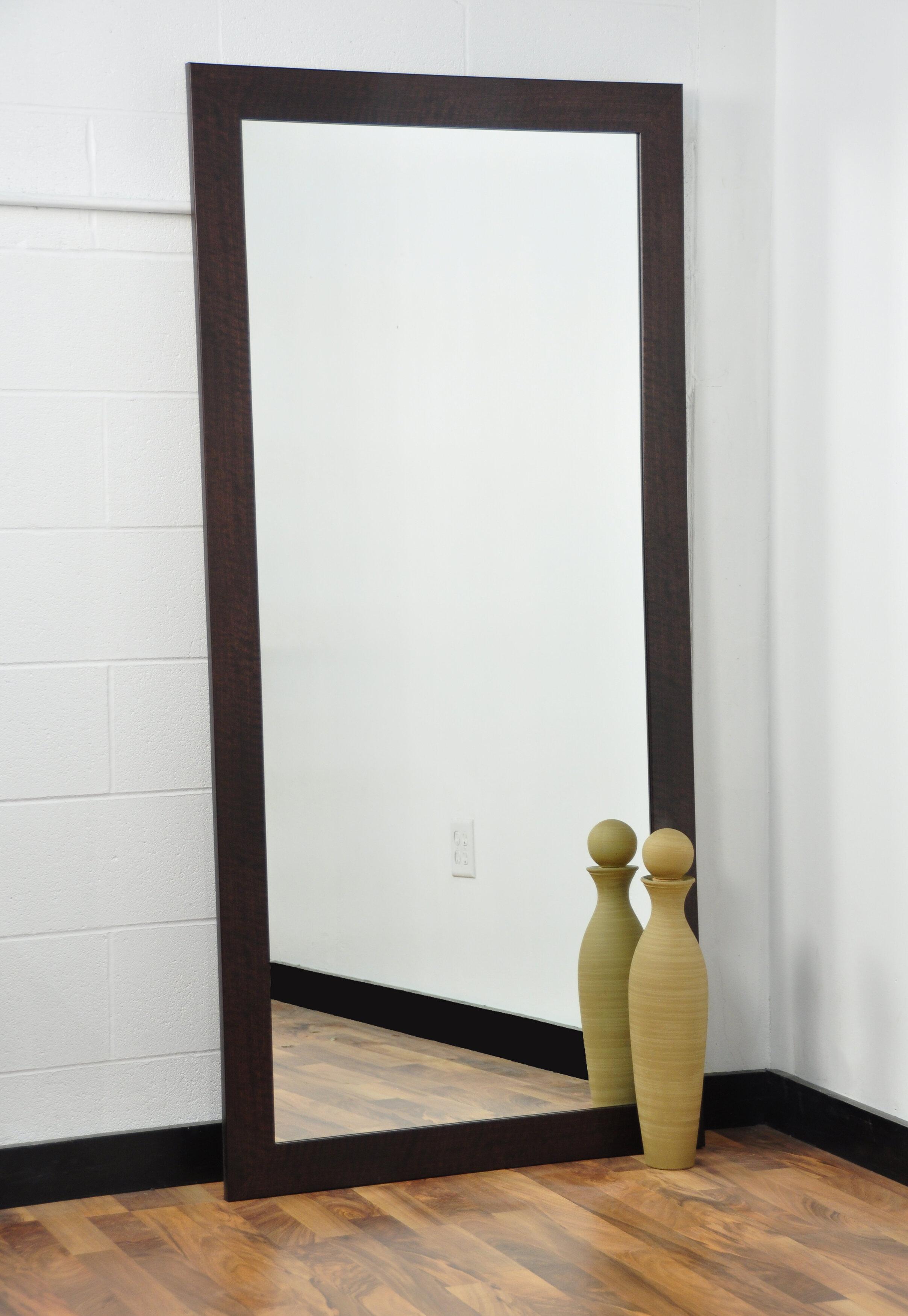 American Value Walnut Showroom Tall Vanity Wall Mirror | Wayfair