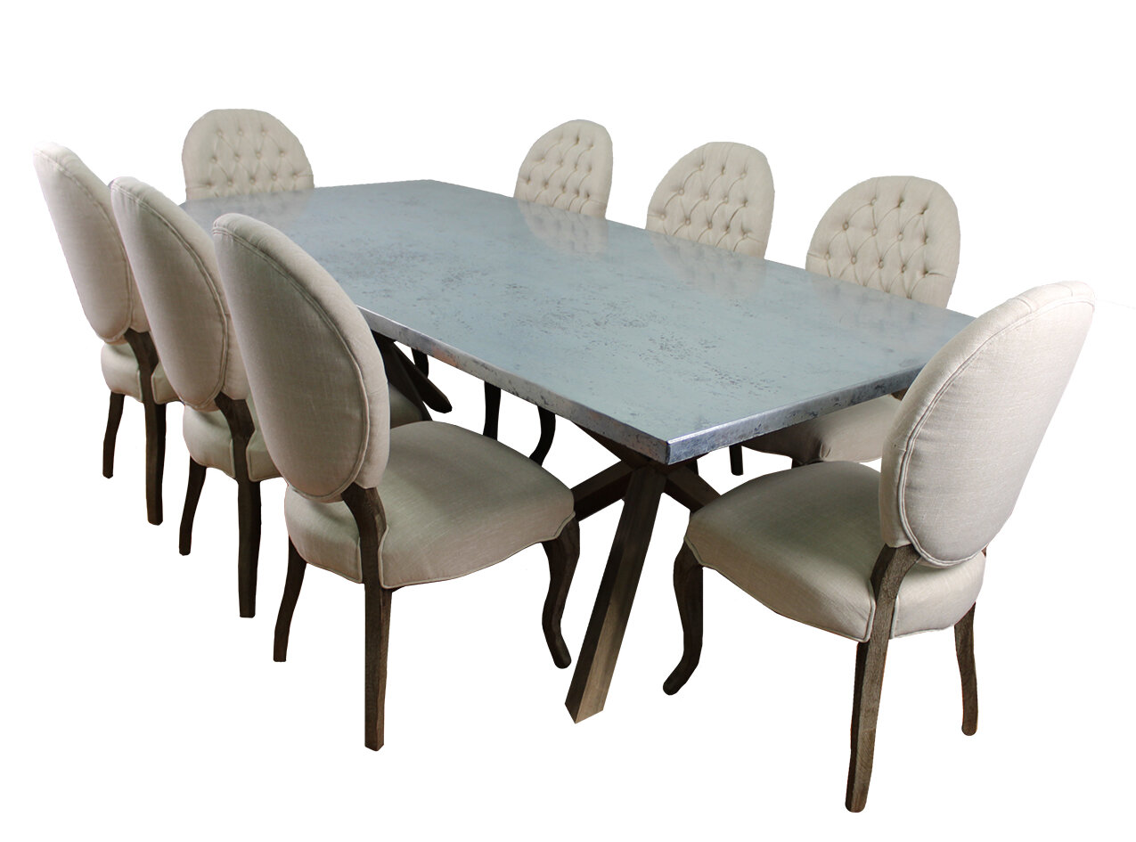 MOTI Furniture Syracuse 9 Piece Dining Set | Wayfair
