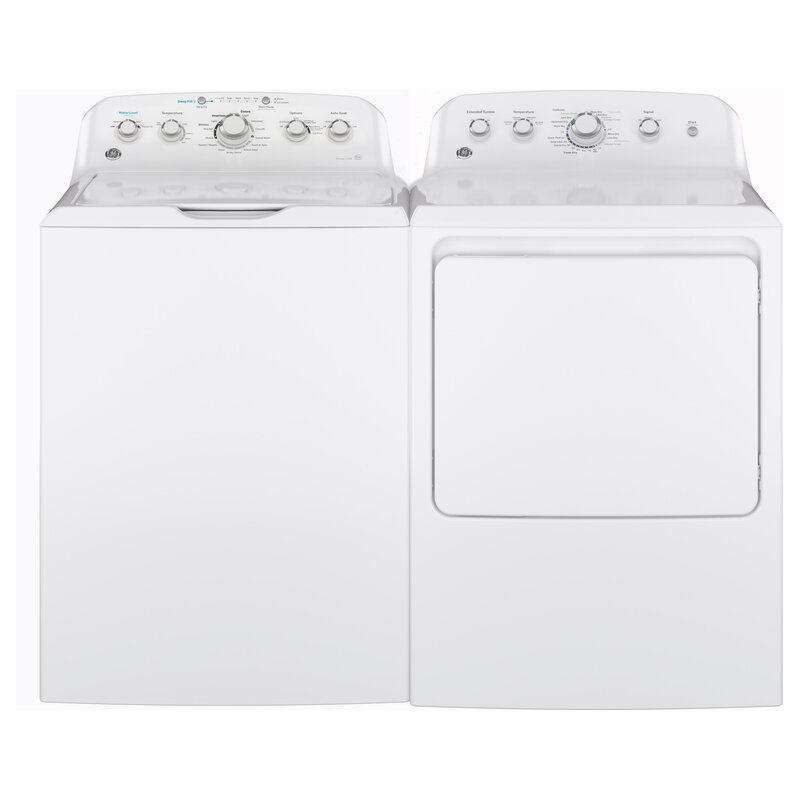 4 5 Cu  Ft  Top Load Agitator Washer and 7 2 Cu  Ft  Gas Dryer