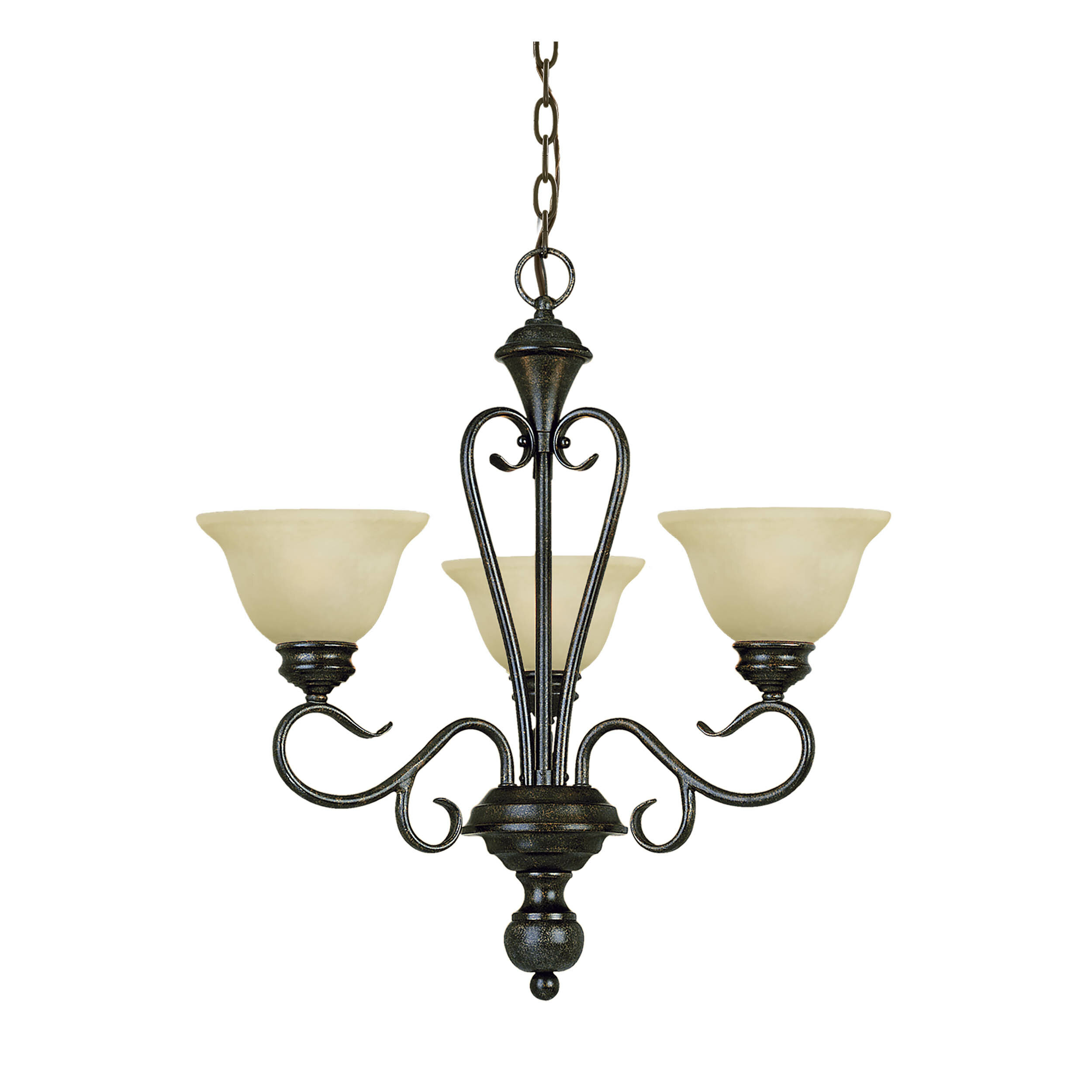 Fleur De Lis Living Birchview 3 Light Shaded Classic Traditional Chandelier Reviews Wayfair