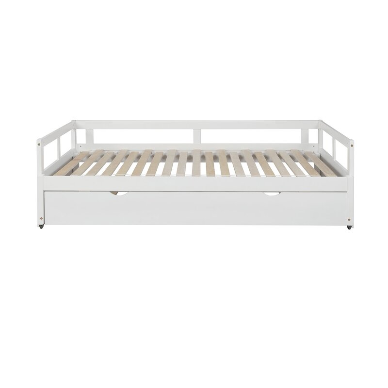 Latitude Run Daxin Twin Solid Wood Daybed With Trundle Wayfair