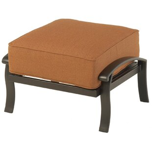 Borman Outdoor Ottoman with Sunbrella Cushions by Darby Home Co