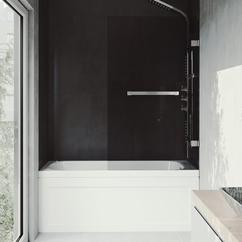 Rialto 34 X 58 Hinged Frameless Tub Door