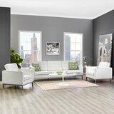 Gayatri 3 Piece Leather Standard Living Room Set by Orren Ellis