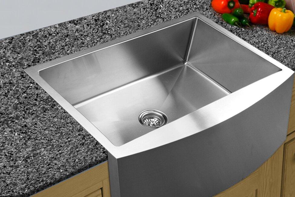 Ukinox 33 x 2225 curved apron front single bowl undermount 33 x 2225 curved apron front single bowl undermount kitchen sink workwithnaturefo
