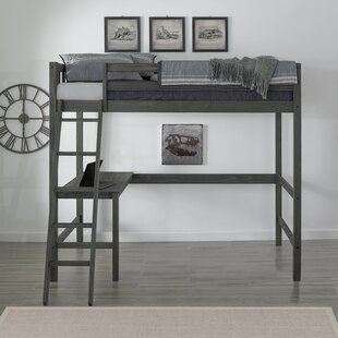 Pauletta Complete Twin Panel Bed with Desk