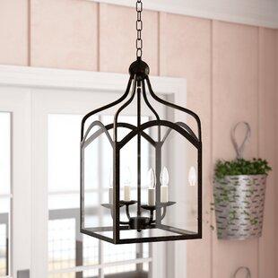 Gracie Oaks Liberty Hill 4-Light Lantern Pendant