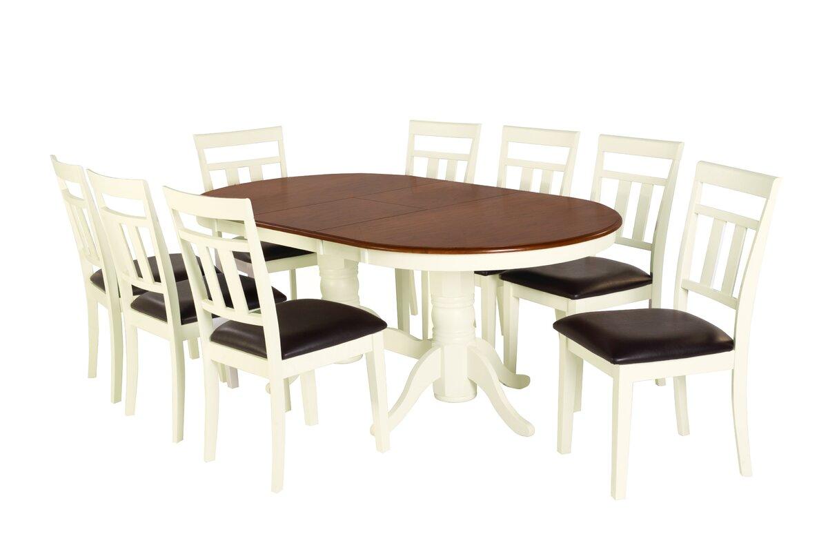 Exceptional 9 Piece Drop Leaf Dining Set