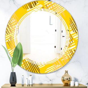 Triple C Abstract Geometric IV Modern Frameless Wall Mirror by East Urban Home