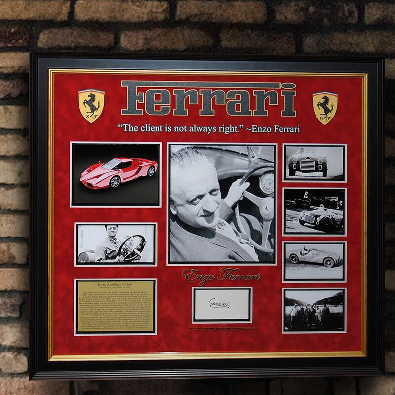 Framed Auto Racing First Day Cover Collectibles