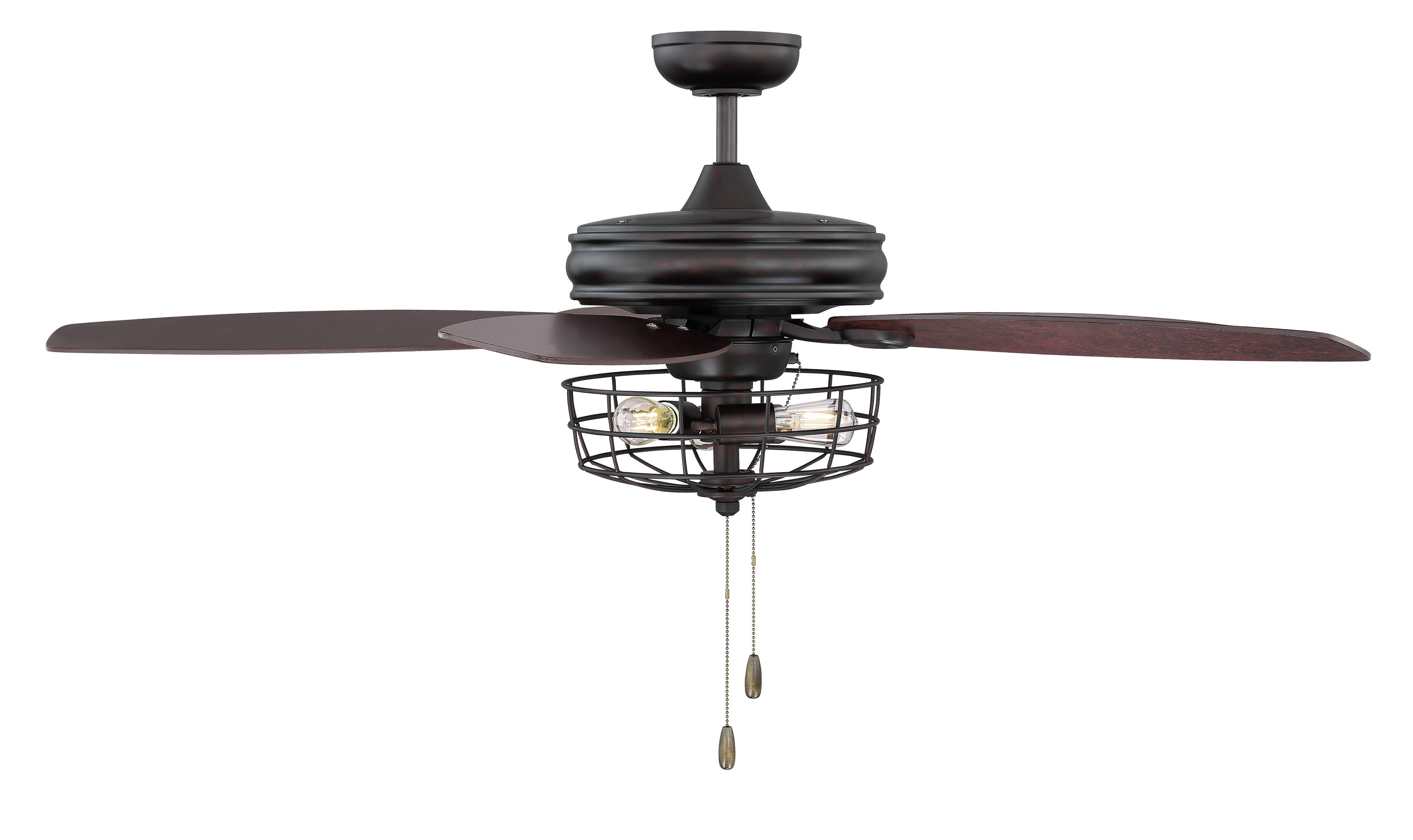 52 Glenpool 5 Blade Caged Ceiling Fan With Pull Chain And Light Kit Included Reviews Joss Main