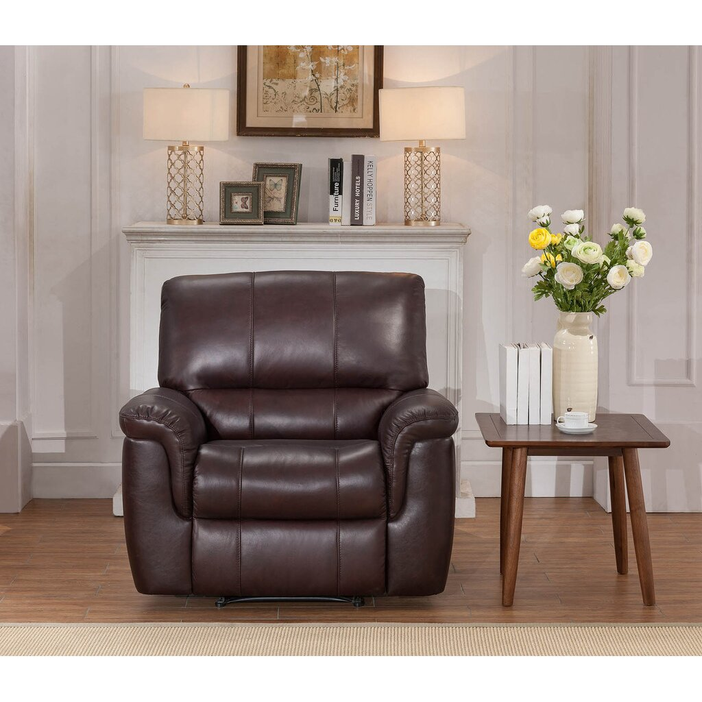 Living Room Sets Reclining: Darby Home Co Ayler 3 Piece Leather Reclining Living Room