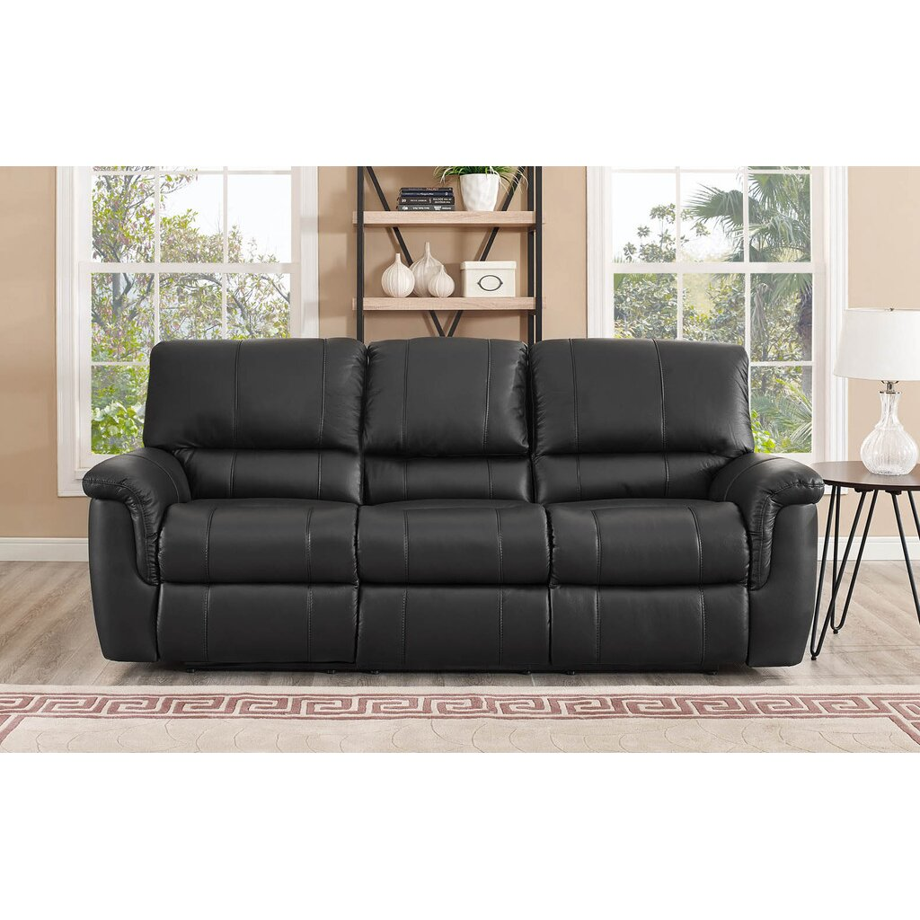 Darby Home Co Averill 3 Piece Leather Reclining Living Room Set