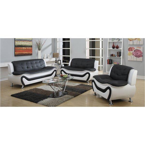 Elegant Orren Ellis Machelle 3 Piece Sofa Set U0026 Reviews | Wayfair