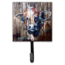Cow Moo Shine Leash Holder and Wall Hook by Caroline's Treasures