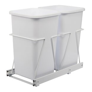 Knape&Vogt Double Pull-Out 6.75 Gallon Trash Can