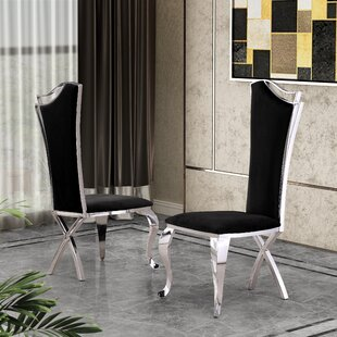 Harborough Upholstered Dining Chair (Set of 2) Everly Quinn