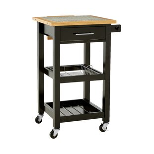 Elwyn Kitchen Trolley With Granite Top By August Grove