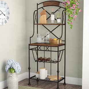 Gracie Oaks Callimont Wrought Iron Baker's Rack