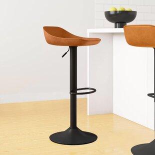 Alison Height Adjustable Swivel Bar Stool (Set Of 2) By Hykkon