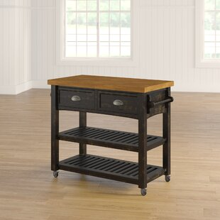 Fortville Kitchen Cart with Wood