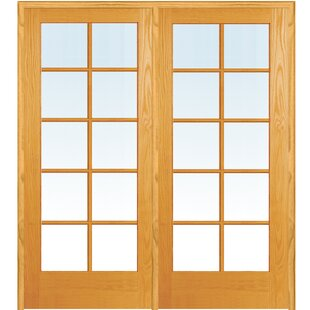 Natural Interior Mdf 2 Panel Prehung French Doors